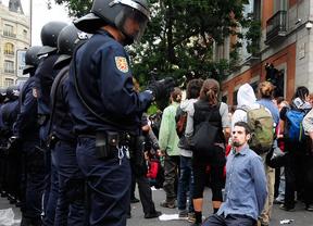 Un detenido y ocho heridos leves tras la protesta contra la monarquía en Madrid