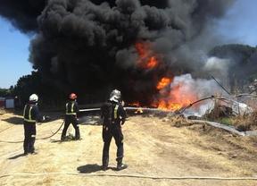 Incendio en un invernadero en Pozuelo