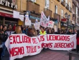 Los futuros abogados protestan contra la ley que les obliga a superar un máster para ejercer