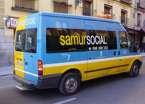 Furgoneta del Samur Social del Ayuntamiento de Madrid