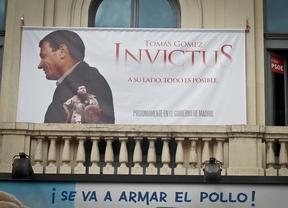 Cartel de Tomás Gómez en la sede del PSM en Callao