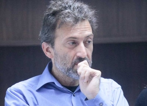 Mauricio Valiente durante la presentación de los candidatos a las primarias de IU para los comicios regionales y municipales de Madrid.