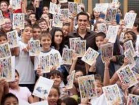 Alberto Contador presenta su cuento 'Querer es poder'