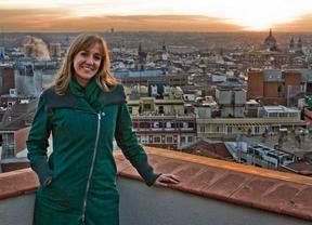 Entrevista a Tania Sánchez, candidata a las primarias de IU a la Comunidad de Madrid, en nla Terraza de Gran Vía.