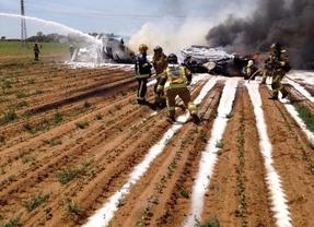 Cuatro muertos en un accidente de avión en Sevilla