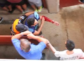 Un herido por asta de toro en el segundo encierro de Leganés