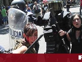 Las cargas enturbian la manifestación minera