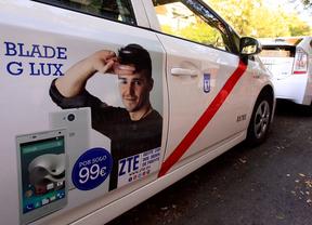 250 taxis madrileños estrenan publicidad de la compañía china ZTE