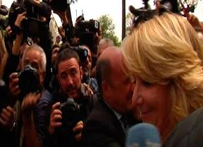 Esperanza Aguirre, a la salida de los juzgados después de declarar por el incidente de tráfico en Gran Vía