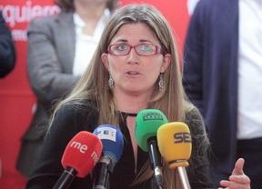 Raquel López durante la presentación de los candidatos a las primarias de IU.