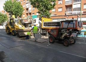 Obras en medio de la calle de Alcalá (archivo)