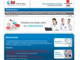 La Comunidad pone en marcha una web para que los madrileños puedan informarse sobre los medicamentos
