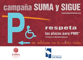 Una campaña conciencia a los conductores de Las Rozas para que respeten los aparcamientos de discapacitados