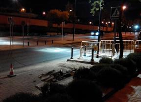 Pruebas de iluminación en la calle Tracia, Las Rozas