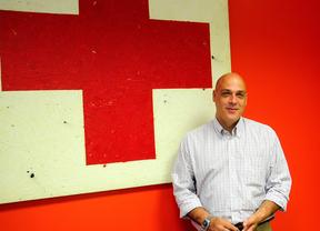 Jesús Mora en la sede de Cruz Roja Madrid (agosto de 2012)