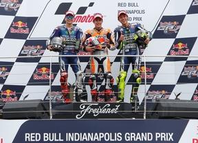 Marquez hace historia en Indy e iguala a Agostini y Doohan