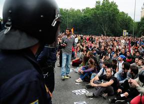 Seis heridos leves y tres detenidos en la concentración de 'Rodea el Congreso'