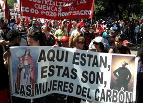 Las mujeres del carbón marchan por Madrid para defender el sector