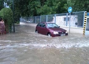 Una tormenta provoca inundaciones en San Martín de la Vega