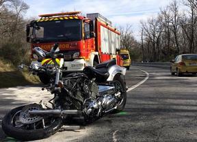 Un motorista fallece tras chocar frontalmente con un turismo en la M-505