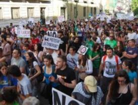 Protestas por los recortes en Educación y la subida de tasas universitarias