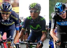 Contador, Quintana y Froome.