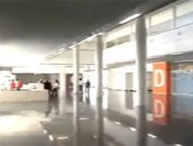 Las lluvias provocan la rotura de un desagüe del Hospital Infanta Leonor