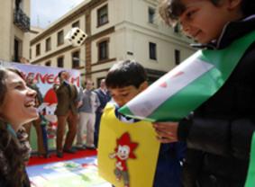 Los pequeños celebran su día en Tetuán