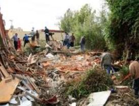 El Ayuntamiento destruye el alcantarillado y cuatro casas de la Cañada