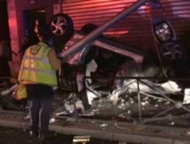 Heridas dos jóvenes en un aparatoso accidente
