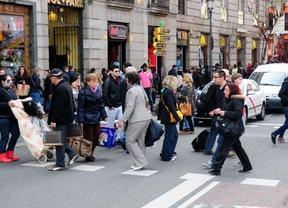 Gente en el centro de Madrid
