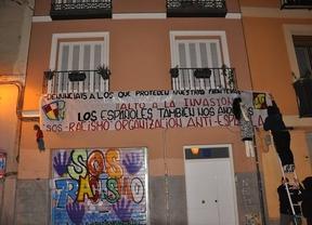 Democracia Nacional reivindica el ataque a la sede de SOS Racismo Madrid