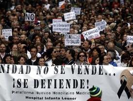 Observatorio Madrileño de Salud: 'El plan sanitario suprimirá más de 7.000 empleos públicos'