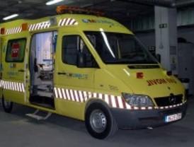 Dos heridos, uno de ellos grave, en un choque entre tres vehículos en Parla