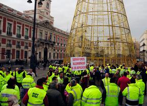 Los trabajadores de los semáforos se suman el lunes a la huelga de alumbrado