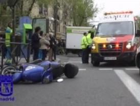 Cuatro heridos en un accidente de moto