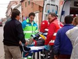 Herido un trabajador al caer de cuatro metros en una obra en Valdetorres
