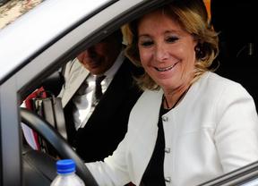 La Fiscalía de Madrid califica de falta el incidente de tráfico de Esperanza Aguirre