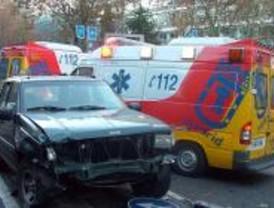 Cinco heridos tras un accidente de tráfico en Príncipe de Vergara