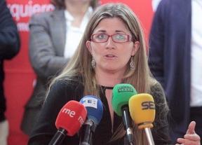 Raquel López durante la presentación de los candidatos a las primarias de IU para los comicios regionales y municipales de Madrid.