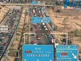 Mucho tráfico en las entradas a la ciudad