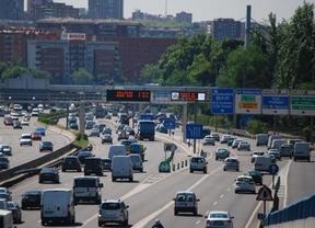Intensidad circulatoria en algunas carreteras madrileñas a mitad de la tarde