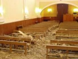 Cae la bóveda de la parroquia de San José de Pinto