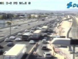 Tráfico lento en las carreteras durante la segunda operación salida