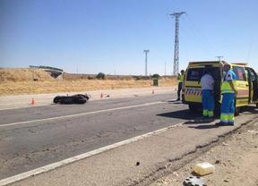 Fallece un motorista al ser arrollado por un camión