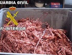 Imputadas dos personas por robar 374 kilos de cobre