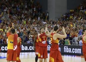 España muestra su poderío ante Brasil