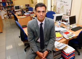 Pedro Sánchez en la redacción de MDO