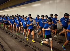 Éxito rotundo de la carrera nocturna por los túneles de metro en apoyo a la candidatura olímpica