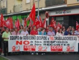 Los trabajadores de Parla marchan contra los despidos